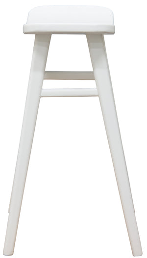 Oval Solid Timber Barstool (White)