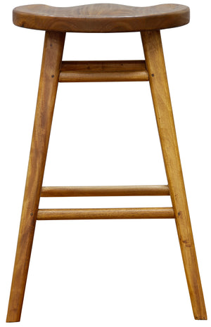 Scandinavian Timber Barstool (Caramel)