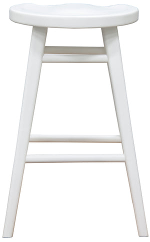 Scandinavian Timber Barstool (White)