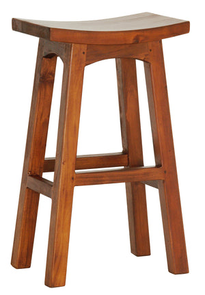 Wooden Bar Stool (Light Pecan)