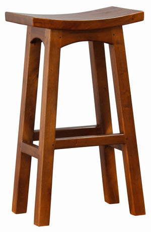 Wooden Bar Stool (Mahogany)