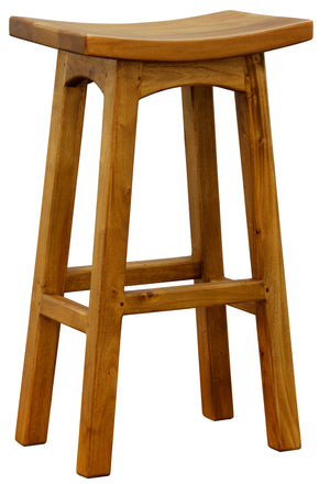 Wooden Bar Stool (Caramel)