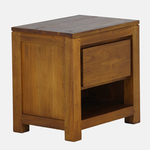 Amsterdam 1 Drawer Bedside (Light Pecan)