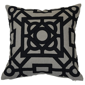Beatrice Black Linen Cushion Cover