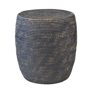Bungalow Rattan Drum Side Table
