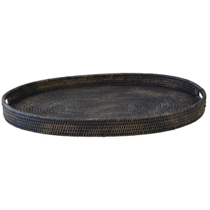 Bungalow Rattan Tray Oval Large