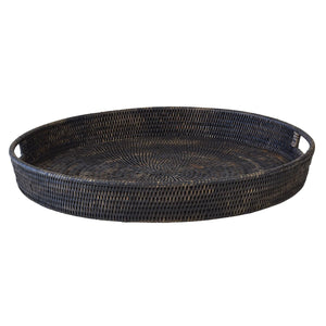 Bungalow Rattan Tray Round Large
