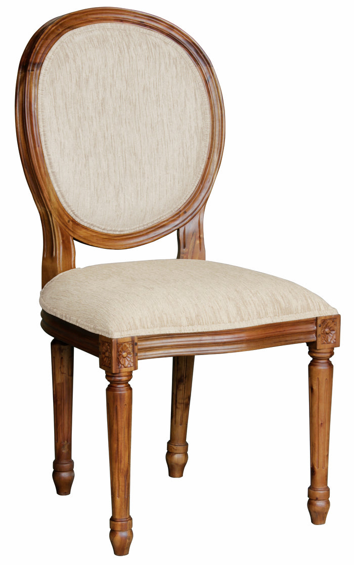 Round Queen Ann Dining Chair (Mahogany)