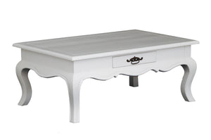 2 Drawer French Coffee Table (White)