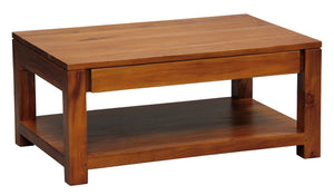 Amsterdam 2 Drawer Coffee Table (Light Pecan)