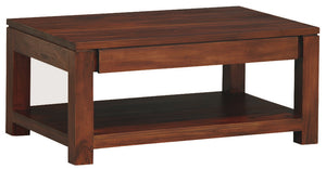 Amsterdam 2 Drawer Coffee Table (Mahogany)