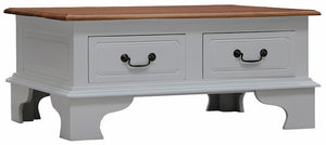 4 Drawer Coffee Table (White)