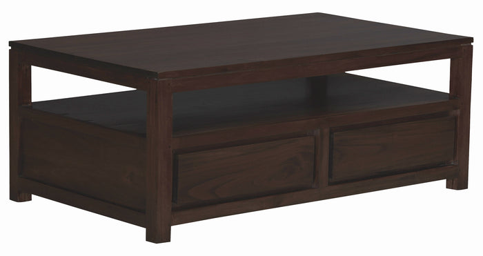 Amsterdam 4 Drawer Coffee Table (Chocolate)