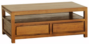 Amsterdam 4 Drawer Coffee Table (Light Pecan)