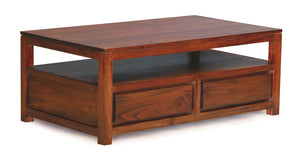 Amsterdam 4 Drawer Coffee Table (Mahogany)