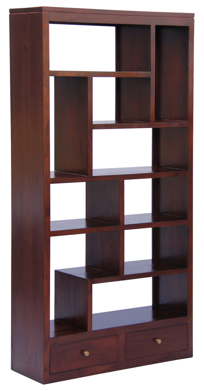10 Cube Shelf with 2 Drawer (Mahogany)