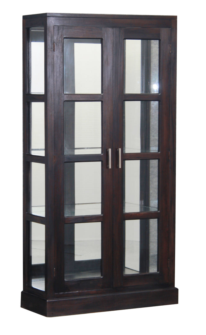 Paris Mirror Back Display Cabinet (Chocolate)