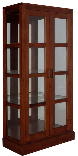 Paris Mirror Back Display Cabinet (Mahogany)