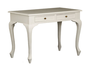 2 Drawer Queen Ann Desk (White)