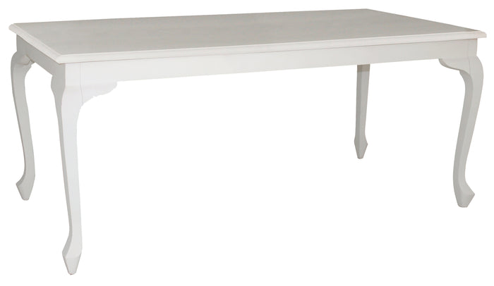 Queen Ann Dining Table (White)