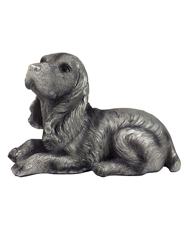 4x Ross Dog Polyresin Statues, 23cm