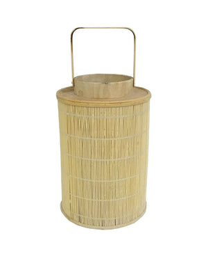 2x Bamboo Lanterns, Natural, Large