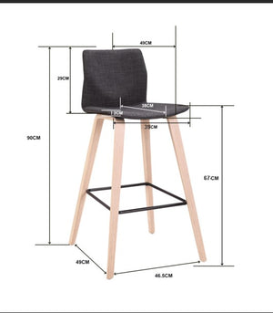 STRAIGHT SHOOTER KITCHEN BENCH CHAIR