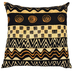 Kubu Gold and Black Cushion Cover