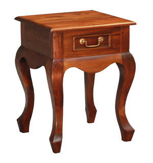 Queen Ann 1 Drawer Lamp Table (Mahogany)