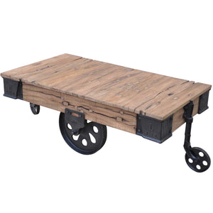 Le Carte Timber and Iron Coffee Table, 120cm