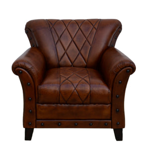 Sade Leather Designer Armchair