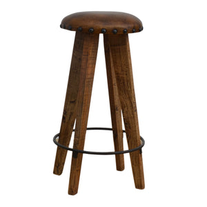Champignon Leather Stool