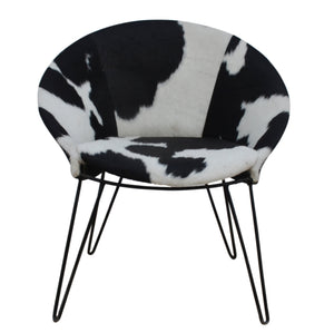 COWHIDE ROUND SEAT
