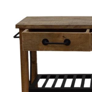 Karl Timber Butlers Trolley, 112cm