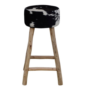Borenna Cowhide Bar Stool