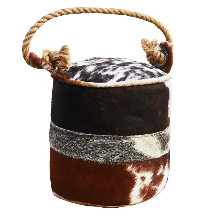 CYLINDRICAL COWHIDE SWATCH DOOR STOPPER