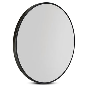 Embellir 90CM Wall Mirror Bathroom Makeup Mirror Round Frameless Polished