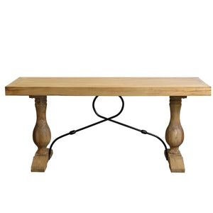 Madrid Timber Console Table, Natural