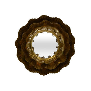 Marigold Round Golden Wall Mirror Small
