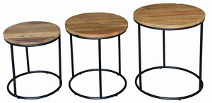 Set of 3 Round Lamp Table