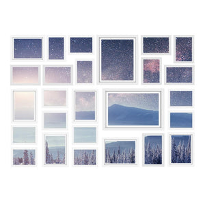 26 PCS Picture Photo Frame Wall Set Home Decor Present Gift White