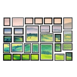 30 PCS Photo Frame Set Wall Hanging Collage Picture Frames Home Decor Gift Black