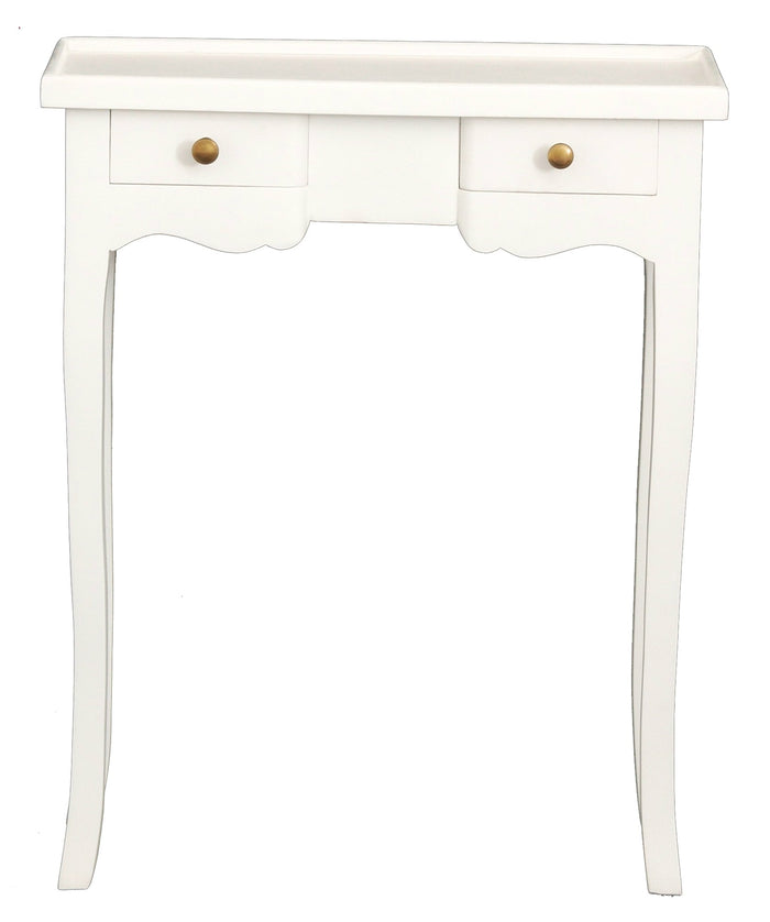 2 Drawer Phone Table (White)