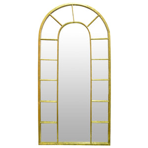 Pavlos Iron Framed Wall Mirror, Gold