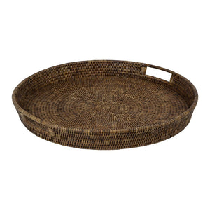 Plantation Rattan Tray Round Large
