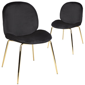 Quill Chair - Black - Set of 2 chairs