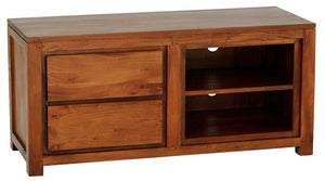 Amsterdam 2 Drawer Entertainment Unit (Light Pecan)