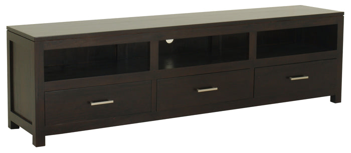 Paris 3 Drawer Low Entertainment Unit (Chocolate)