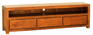 Amsterdam 3 Drawer Entertainment Unit (Light Pecan)