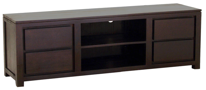 Amsterdam 4 Drawer Entertainment Unit 170cm (Chocolate)